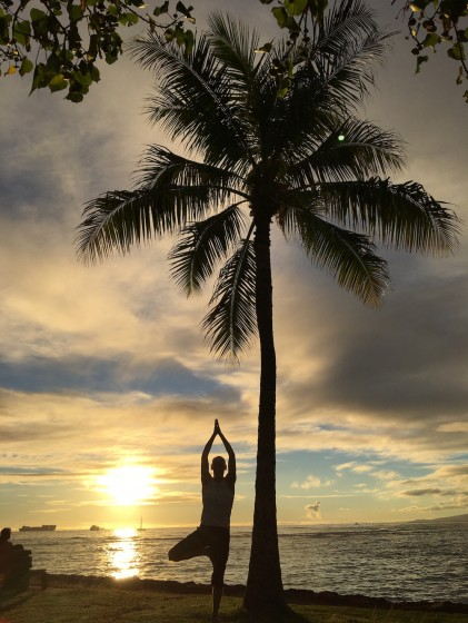 Waikiki Ala Moana Park Beach Yoga Starts April