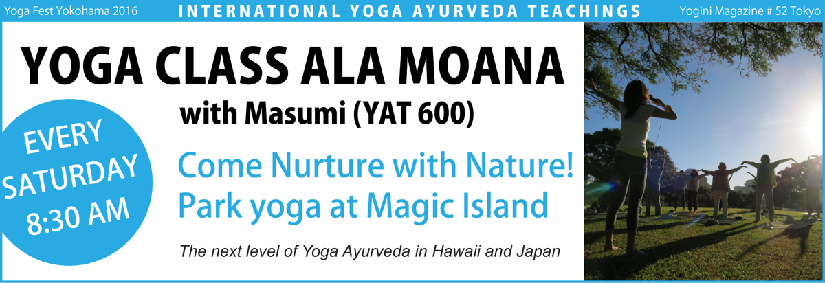 Yoga class at Magic Island in Ala Moana beach park