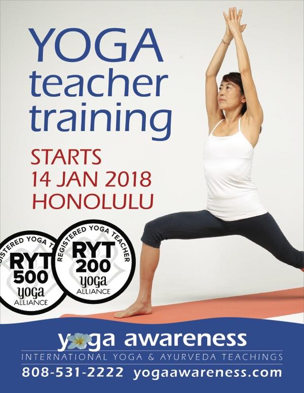 Ryt200 And Ryt500 Yoga Teacher Trainings In Tropical Honolulu This January 2018