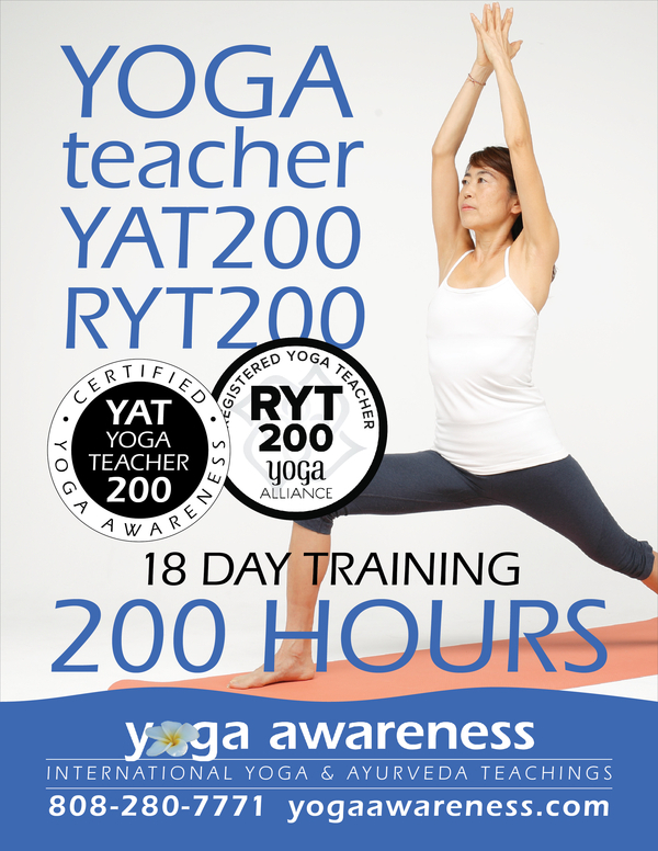 Maui 200 Hour Yoga Teacher Training For 9 Weekends Starting February 8th Tedd Surman Yoga Awareness Enews 2020 01