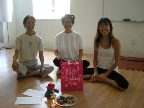 MyBirthday Gifts are Students & Tedd's Yoga Class ♫